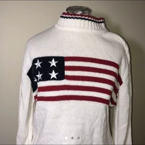 Christopher & Banks American USA flag Sweater L